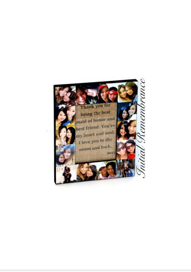 Personalized Message Photo Collage Frame Custom Quote Unique