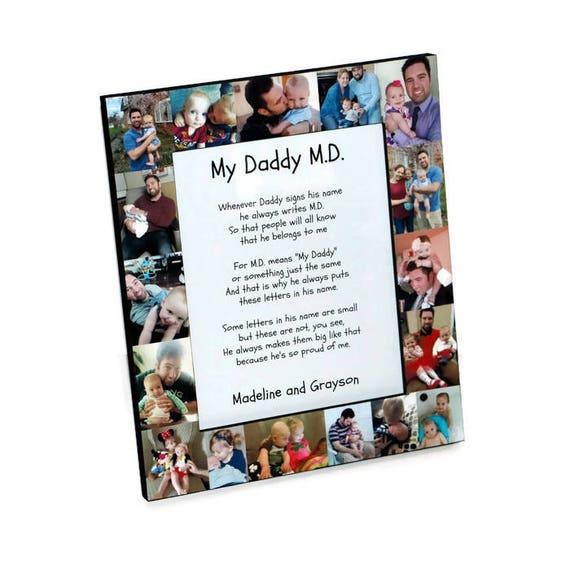 My Daddy Md Frame Daddy Md Poem My Daddy Do I Love You Etsy