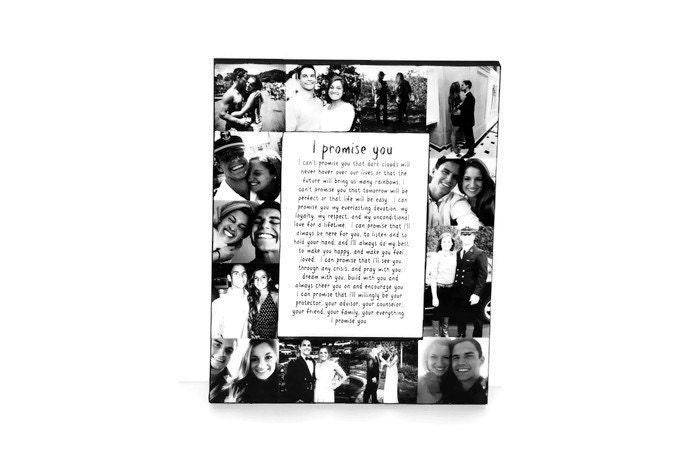 Boyfriend Girlfriend I promise you Best Friend Picture Frame Collage ...