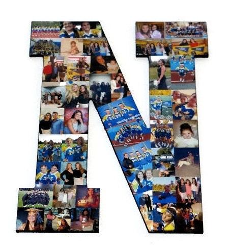 cheer senior night senior night gift photo collage letter n