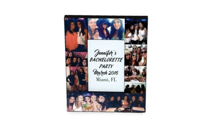 Bachelorette Frame Picture Frame Photo collage best friend Gift ...