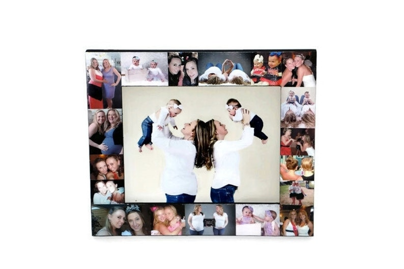 Sister Gift Picture Frame Collage Christmas Portraits Unique First Year Picture Frame Maid of Honor Photo Collage Frame 1st time Mommy Mom