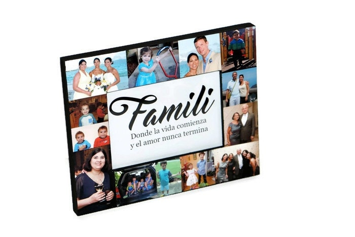 Family Picture Frame Spanish Collage Photo Frame Gifts for Her ...