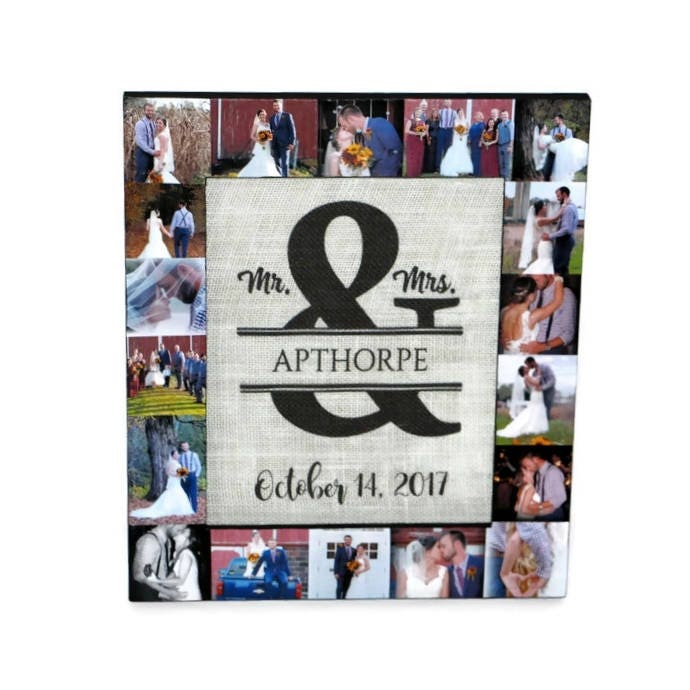 Mr. & Mrs. Ampersand Burlap Family established Last name date Photo ...