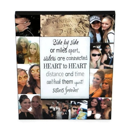 Sister Long Distance, Sisters Siblings Best Friend Picture Frame ...