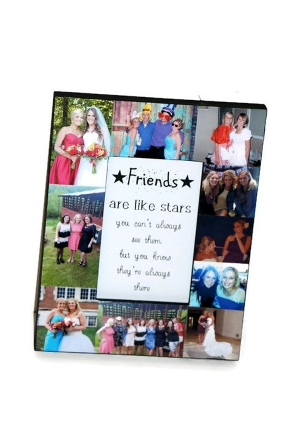 Boyfriend Best Friend Picture Frame Collage Photo Frame College Roomies Off to College Maid of Honor Sister Best Bud Mom Dad Mum Grandmother