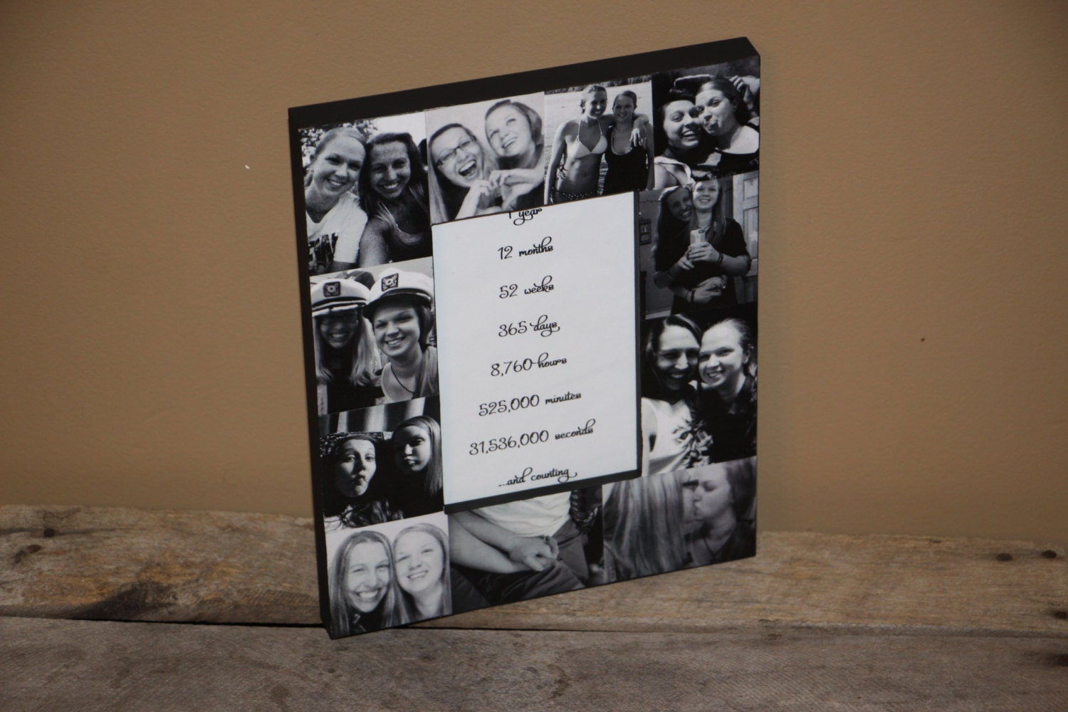 1 Year 12 Months 52 Weeks 365 Days Quotes: Anniversary Custom Picture Frame , 1 Year, 12 Months, 52