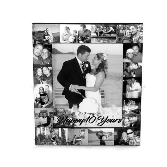 10 Year 10 Yr Anniversary Frame Anniversary Frame Picture Frame