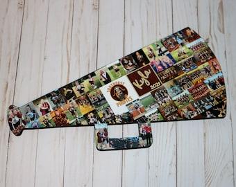 Wooden Photo Collage Megaphone Cheerleader Gift Senior Year