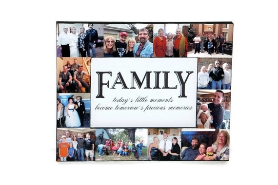 Family Picture Frame Collage Photo Frame Gifts for Her Mother's Day gift for mom ideas Best Friend Frame, Memory Keepsake, Girlfriend Gift