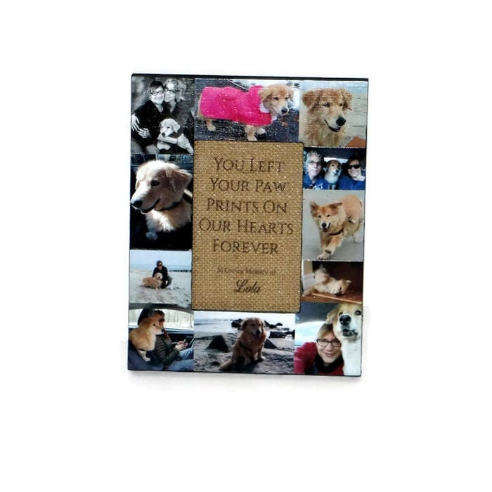 You left a paw print on our hearts forever Pet Memorial Frame Pet ...