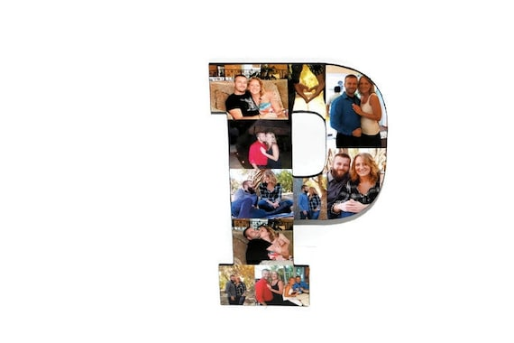 Best Friend Photo Frame Letter Collage Initial Senior night