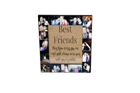Best Friend Picture Frame Collage Photo Frame College | Etsy