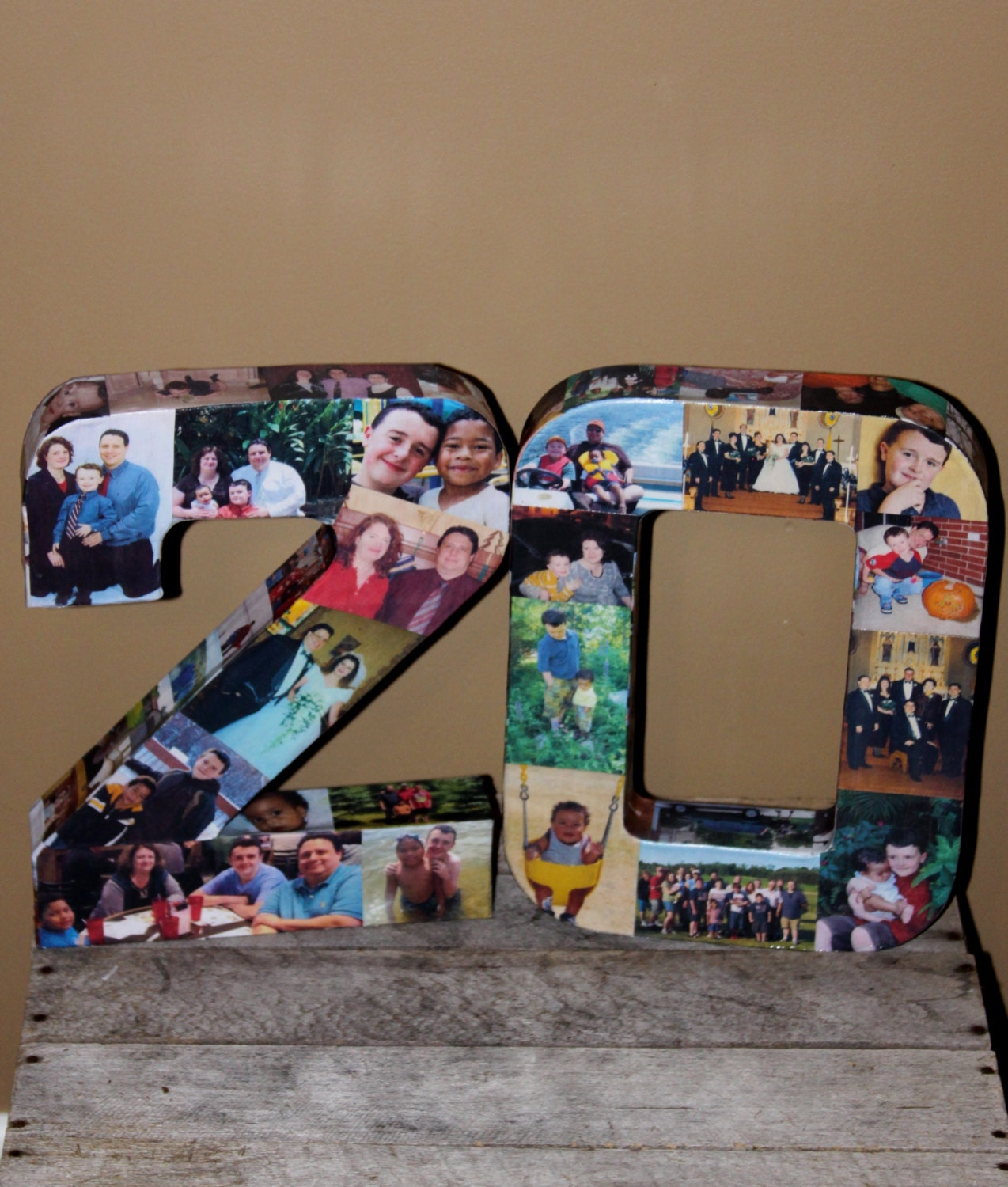 20th wedding anniversary birthday 10th 40th 50th 75th graduation photo letter collage picture frame party decor senior year 2015 360 15