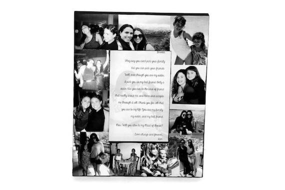 Boyfriend Girlfriend Best Friend Picture Frame Collage Photo | Etsy