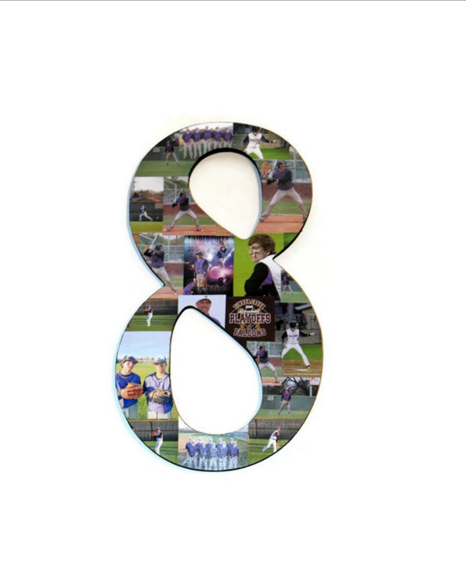 8th Greek Letter.Number 8 8th Photo Collage Huge 18 Number Picture
