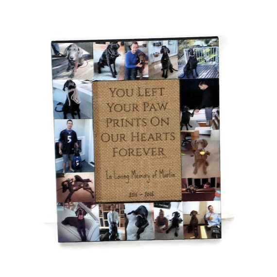 Pet Memorial Collage Pet Frame Personalized Picture In Loving Etsy