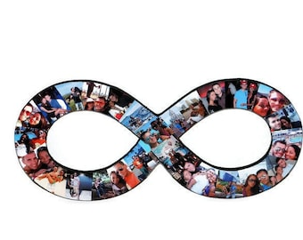 INFINITY photo collage | Infinity with photos | Infinity picture collage | Infinite LOVE | Endless love | Gift for her/him | Engagement gift