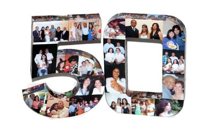 50th Wedding Anniversary Birthday Collage 20th 30th 40th 60th 25th