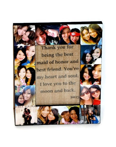 Personalized Message Photo Collage Frame Custom Quote Unique Maid