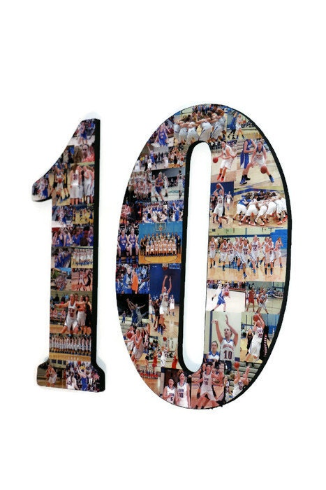 10 10th senior night number photo collage huge 18 two digit letter collage birthday anniversary party jersey number graduation fraternity