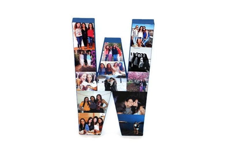 3D 16 Huge Photo Initial collage Gift Picture Frame Children/'s College Dorm Room Wedding Birthday  Personalized Monogram Letter Collage