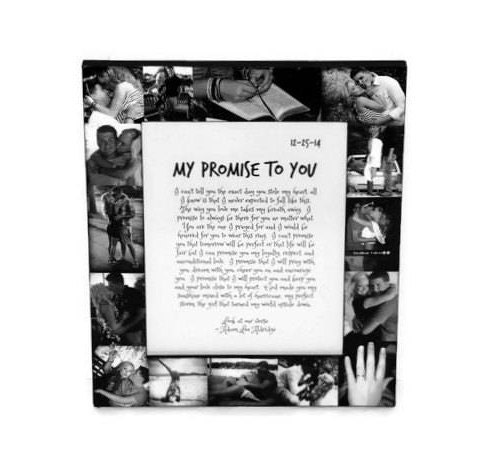 Boyfriend Girlfriend I promise you Best Friend Picture Frame Collage ...