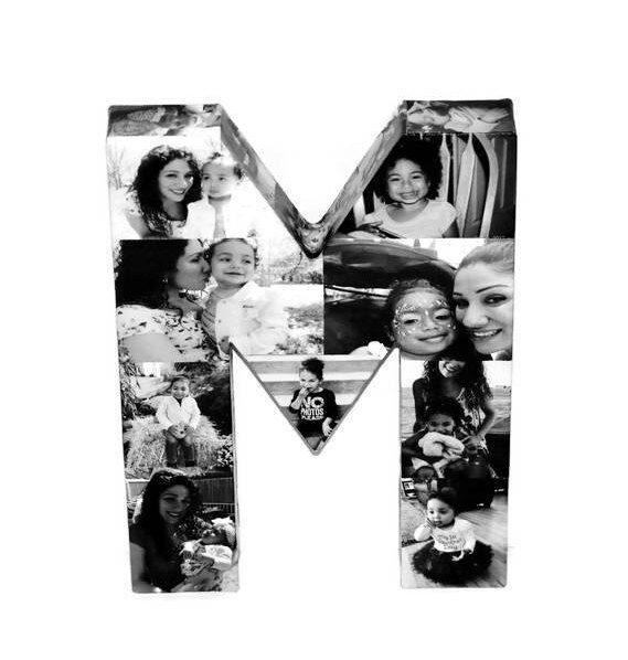 letter m letter h photo collage birthday gift for her birthday gift for him anniversary gift for my wife husband letter collage