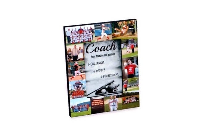 Baseball Coach Picture Frame, Softball Photo Collage, Thank you ...