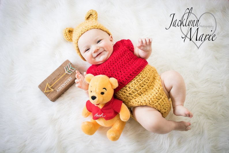744a39519cce Handmade Disney s-Inspired Winnie the Pooh Crochet Baby