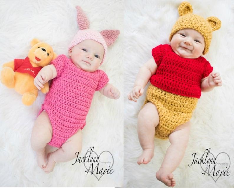 4ddc44569 Handmade Disney's-Inspired Piglet Crochet Baby | Etsy