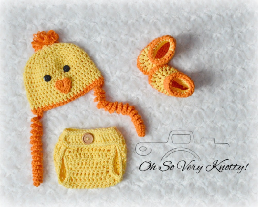 37a983602499 Handmade Spring Baby Chick Peep crochet costume Photo Prop.