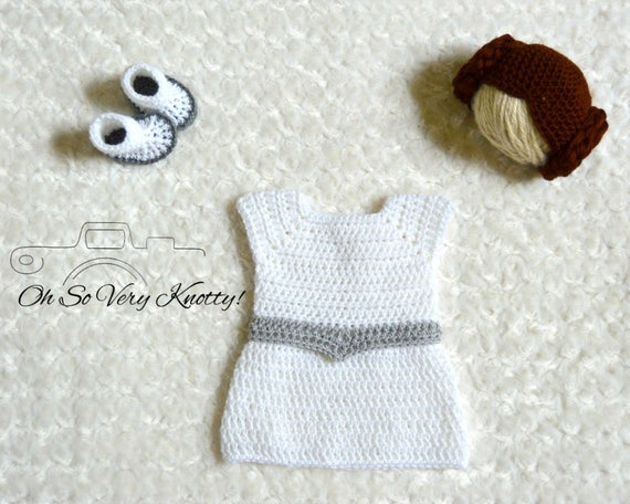 d1bf3b86e8c Handmade Princess Leia Inspired Baby Costume  Crochet Princess