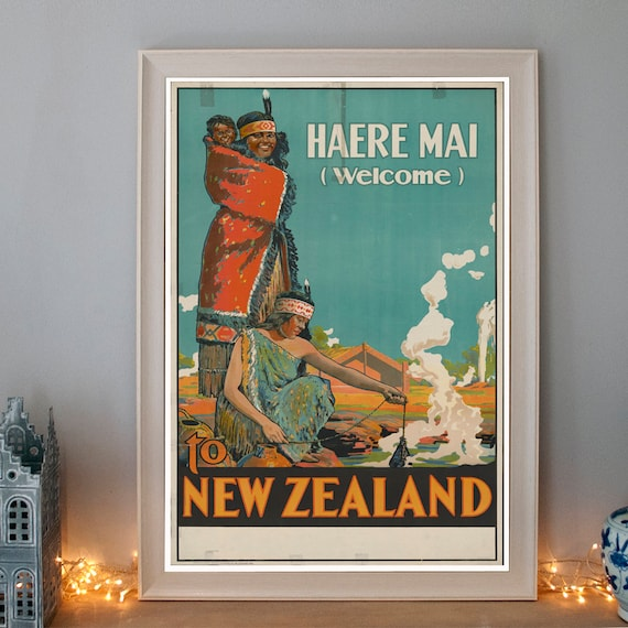 New Zealand Vintage Travel Advertising Poster reproduction