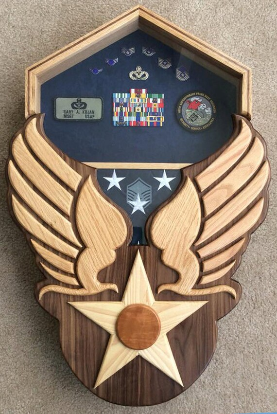 Air Force Heritage Shadow Box Hap Arnold Wings Handcrafted Etsy
