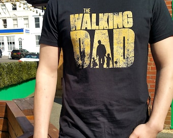 ad4ddc1739 Walking Dad with son and daughter T-shirt Funny Gift for Father's Day or  Birthday Inspired by The Walking Dead MUF-12203