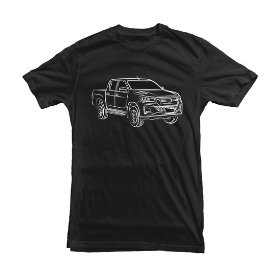 Toyota Hilux Car Outline Tshirt For Toyota Owners Fans Gift Etsy