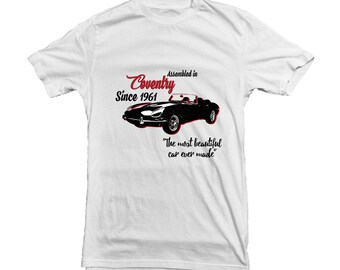 Jaguar E-type Coventry - classic car T-shirt for Jaguar Owners or Fans - gift for Father - Quality Tee - 12224
