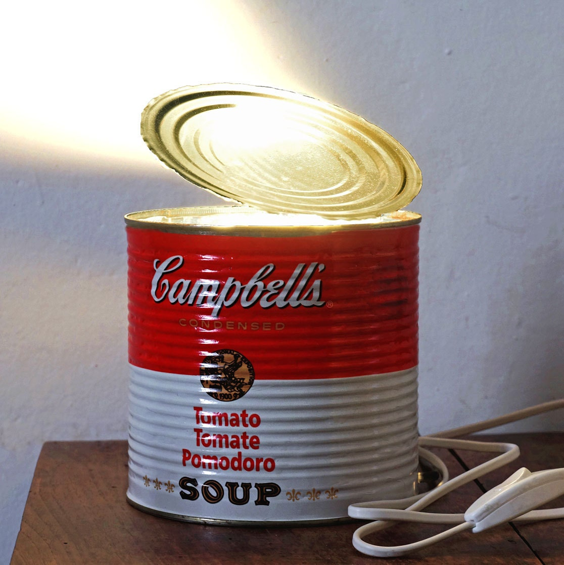 Cambells Light Lamp Can Bedside Table In Etsy Wiring A 50