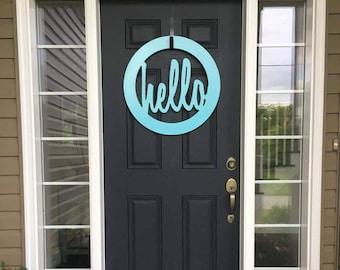 Hello door sign - custom
