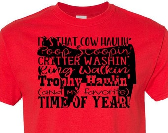 Cow Showing Fair Time Tee