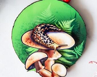 Leopard Slug Ornament, Gastropod Ornament Collection , Malacology Ornaments, Snail Ornament, Slug Ornament, Christmas Ornament, Slug love