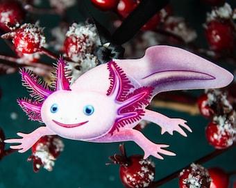 Axolotl, Salamander Ornament, The Weird Stuff Ornament Collection 1, Aquarium Keeper Ornament, Herpetology, Herpetologist gift