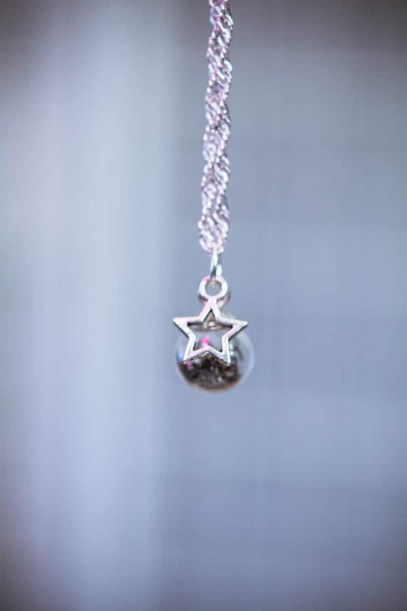 sci fi gift. astronomy Small Gibeon Meteorite Orb pendantsnecklace science