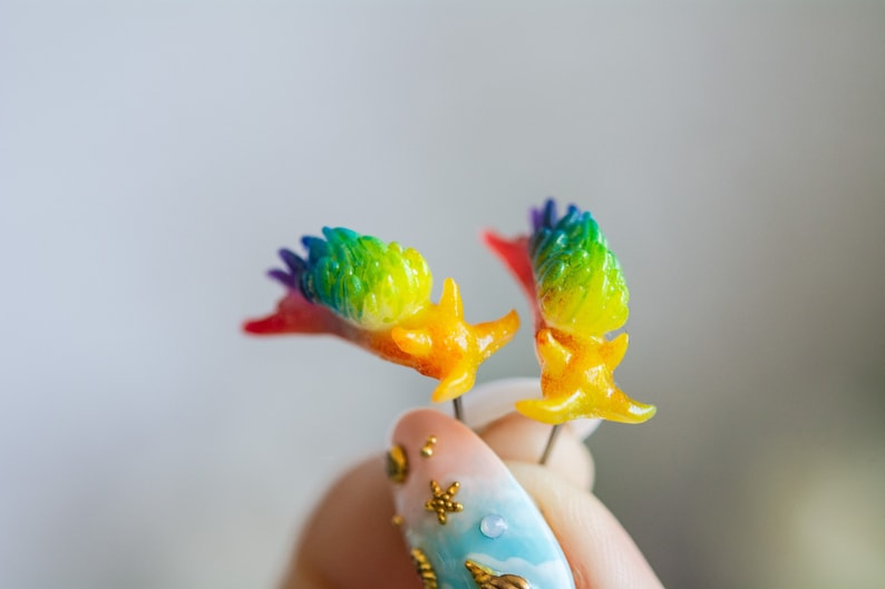 Rainbow Pride Glow in th dark Opalescent nudibranch  image 0