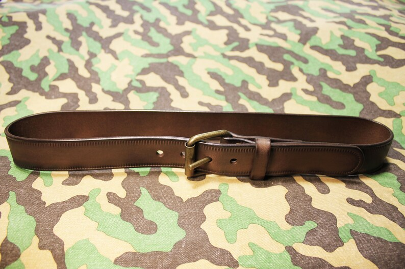Leather Gift for Men Custom Brown Leather Belt Mens Belt Leather Belt with Roller Buckle Art.BM045 Leather Belt Leather Men/'s Belt