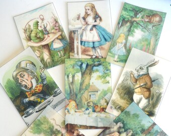 Edible Alice in Wonderland Wafer Rice Paper Vintage Images Birthday Cake Decorations Biscuit Wedding Toppers Mad Hatter 1st Tea Party RTD