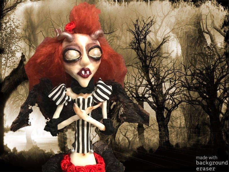 bd92cc2d2e8 Gothic vampire demon doll creepy doll horror doll | Etsy