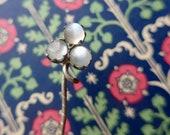 Vintage Moonstone Stick Pin Hat Pin - Clover Design Hatpin