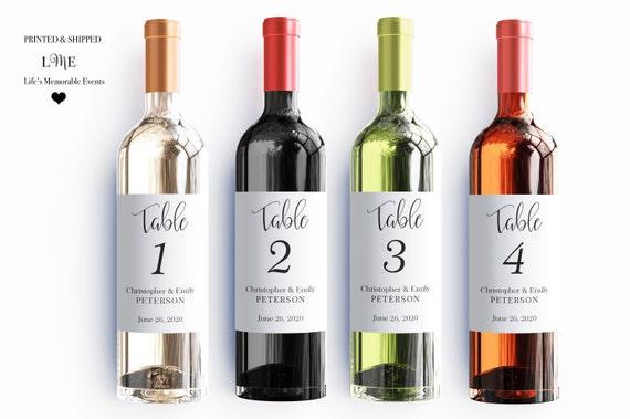 Self Adhesive Waterproof Wine Labels Wedding Labels Wine Bottle Labels Table Numbers
